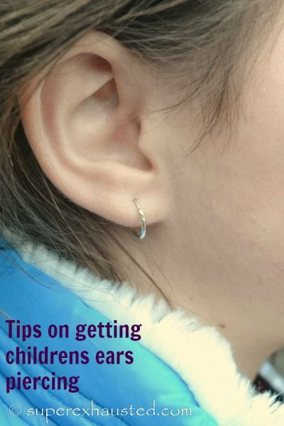 Tips on getting childrens ears piercing. Why it's best to wait until age 8 or so. #kids #earrings #tips #parenting #girls #piercing