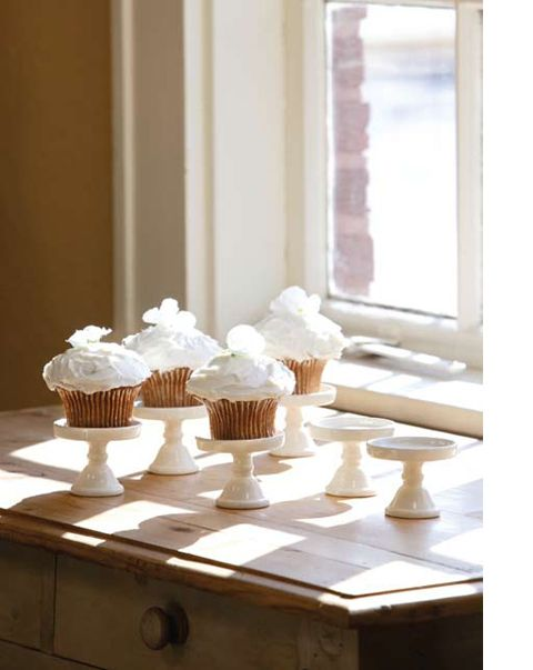 """Cupcake Stands (S/6) Set of six. antique white ceramic. Dimensions (in):2.5"""""""" x 3"""""""" By Park Hill Collection - Park Hill Collection is a supplier specializing in gift, floral & home decor.. Estimated D"""