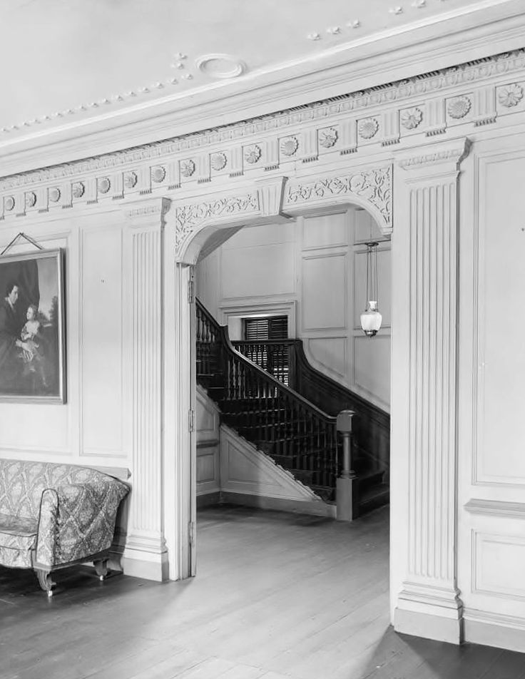 Inside Drayton Hall Plantation, Charleston, SC 1938
