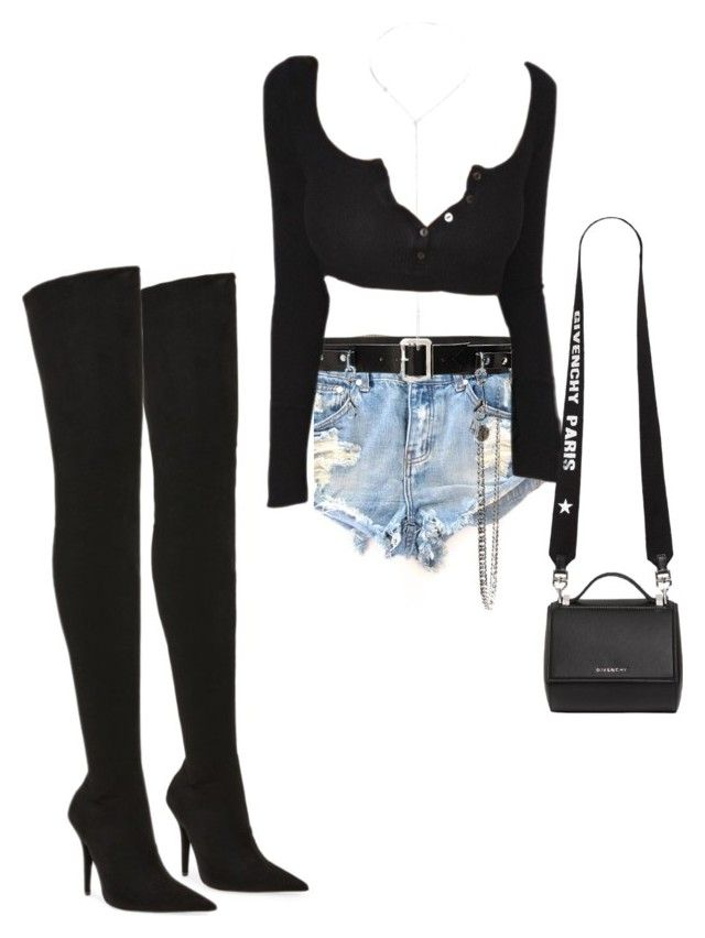 """""""Untitled #757"""" by northwood ❤ liked on Polyvore featuring OneTeaspoon, Jeffrey Campbell, Homme Boy, Catherine Stein and Givenchy"""