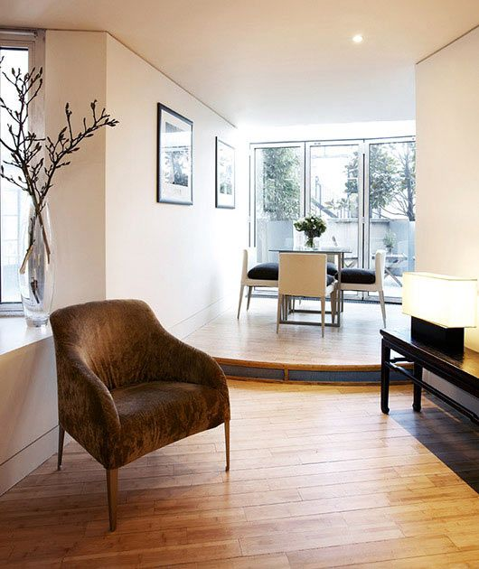 The contemporary design of the terrace suite at  No.5 Maddox Street.