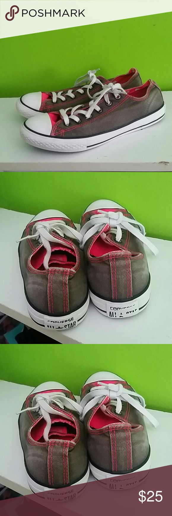 Women's Converse White & Pink Shoes Size 5 Up for sale is a women's pair of Converse White & Pink Shoes.  Size 5. Used but in good condition.  No rips tears or stains. I will take any reasonable offers.  Any questions? Please ask. Thanks for looking and have a great day! Converse Shoes Sneakers
