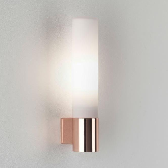 Bari IP44 Bathroom Wall Light In Polished Copper