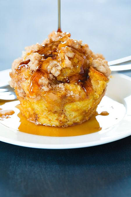 Pumpkin French Toast Muffins with Cinnamon Steusel Topping !
