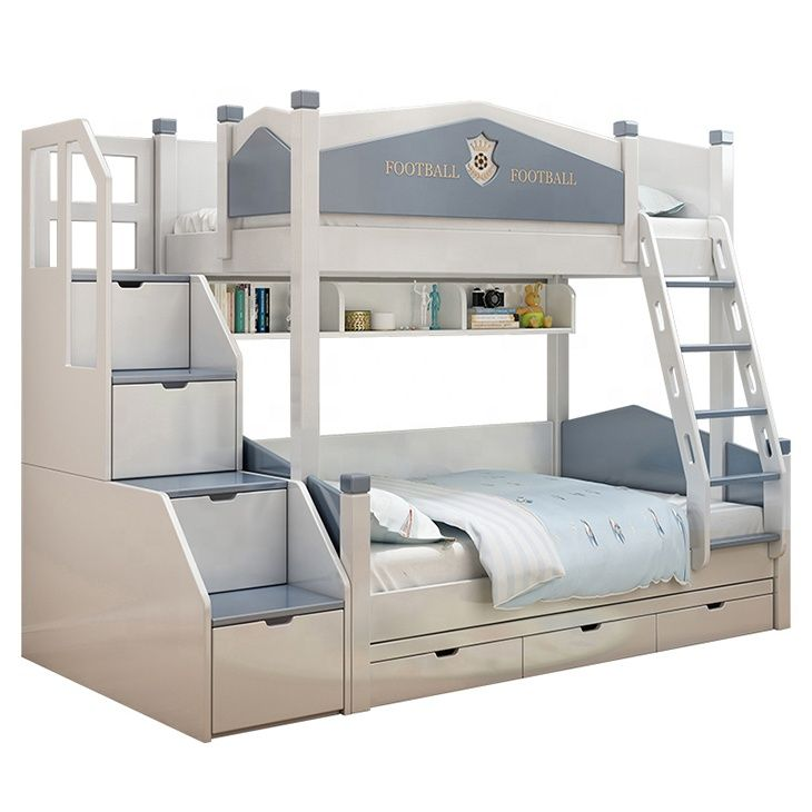 Hot Sale Mdf Solid Wood Children Trundle Furniture Bedroom Bunk