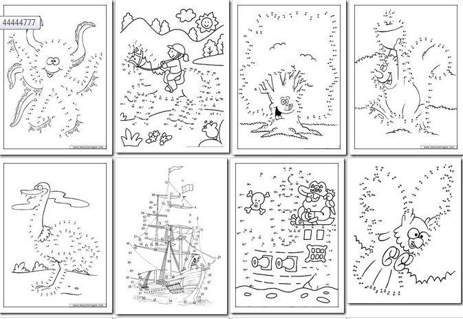 90 Dibujos para Imprimir y Unir Puntos | Fichas para Unir Puntos | Planeaciones Gratis