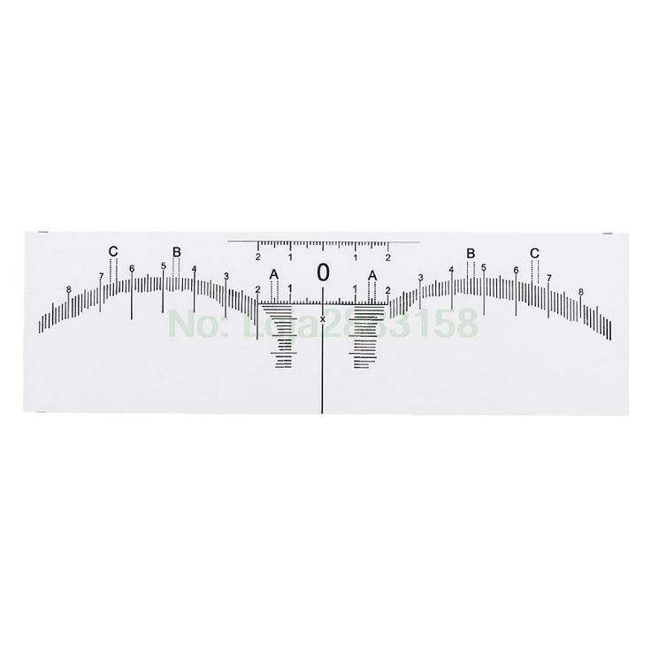 Disposable adhesive eyebrow ruler guide sticker tape semi