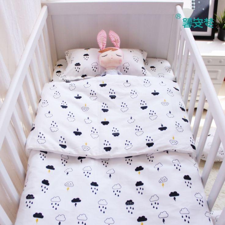 34.68$  Buy now - https://alitems.com/g/1e8d114494b01f4c715516525dc3e8/?i=5&ulp=https%3A%2F%2Fwww.aliexpress.com%2Fitem%2F3pcs-set-baby-bedding-set-cotton-crib-bedding-for-newborn-black-white-clouds-raining-design-flat%2F32721386599.html - 3pcs/set baby bedding set cotton crib bedding for newborn black white clouds raindrop design flat sheet duvet cover pillowcase 34.68$
