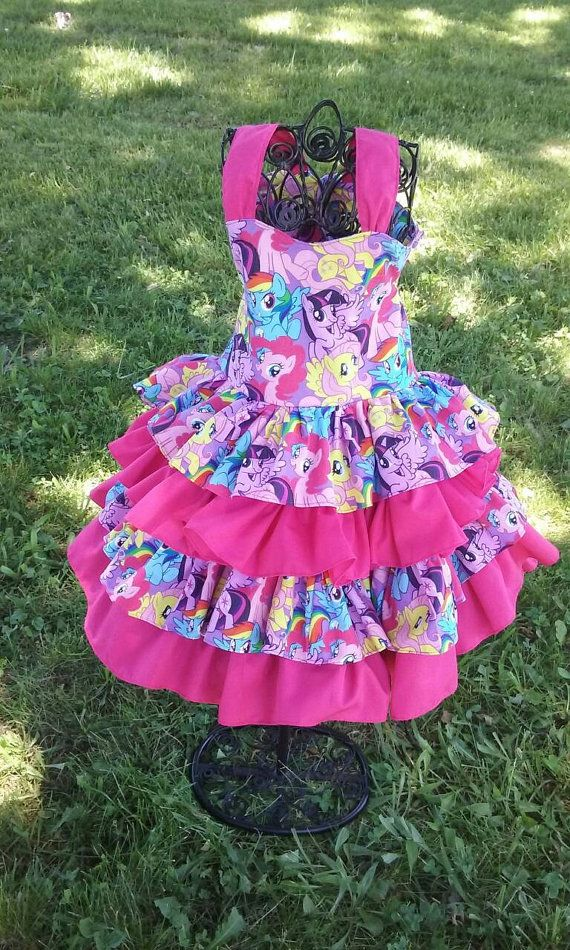 My little pony dress my little pony birthday by MamaMadeLaundry
