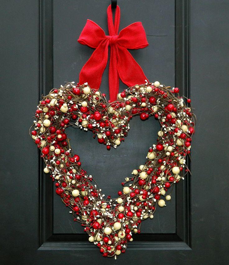 Unique heart wreath ideas on pinterest diy valentine