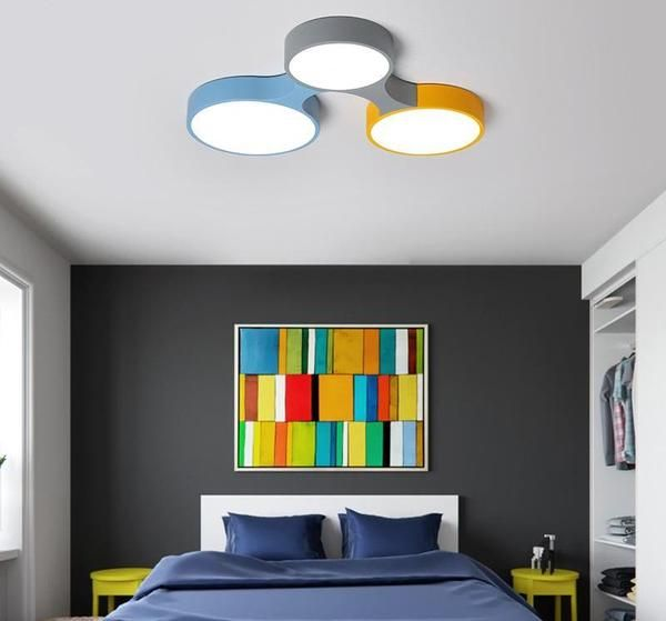Cogs Modern Nordic Colorful Ceiling Light Warmly Bedroom Ceiling Light Ceiling Design Bedroom Colorful Ceiling Light
