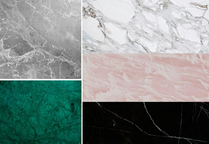 4. Marmor fås i mange farger og mønstre