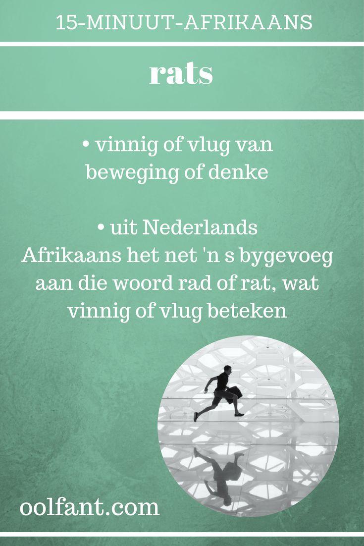 Een van die woordeskatwoorde uit die aanlynkursus 15-Minuut-Afrikaans, vinnige Afrikaans, Afrikaanse woorde