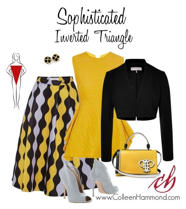 """Sophisticated Inverted Triangle 2"" by colleen-hammond ❤ liked on Polyvore featuring VIVETTA, Marni, Emilio Pucci and Gianvito Rossi"