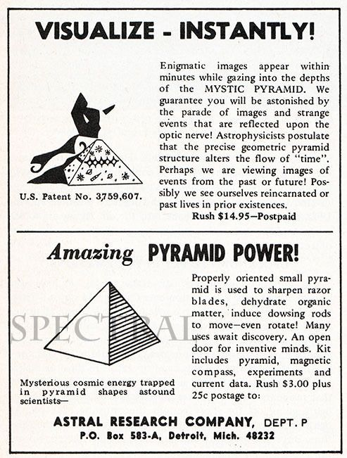 Vintage 46 Print  Pyramid Power Occult Psychic Powers Advertisement Photo