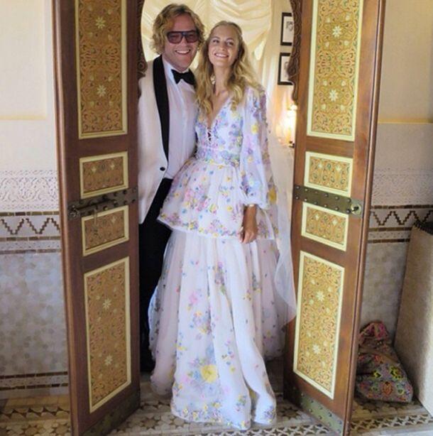 Poppy Delevingne in bohemian Pucci