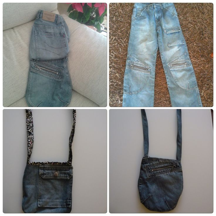 Transformando Jeans en bandoleras.