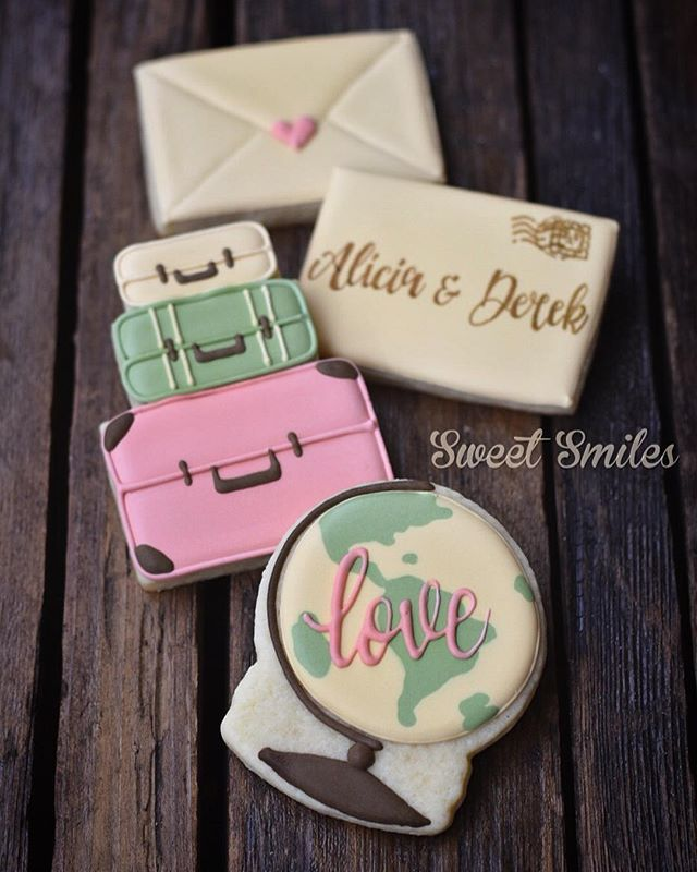 Love makes the world go round Vintage travel theme for a bridal shower!