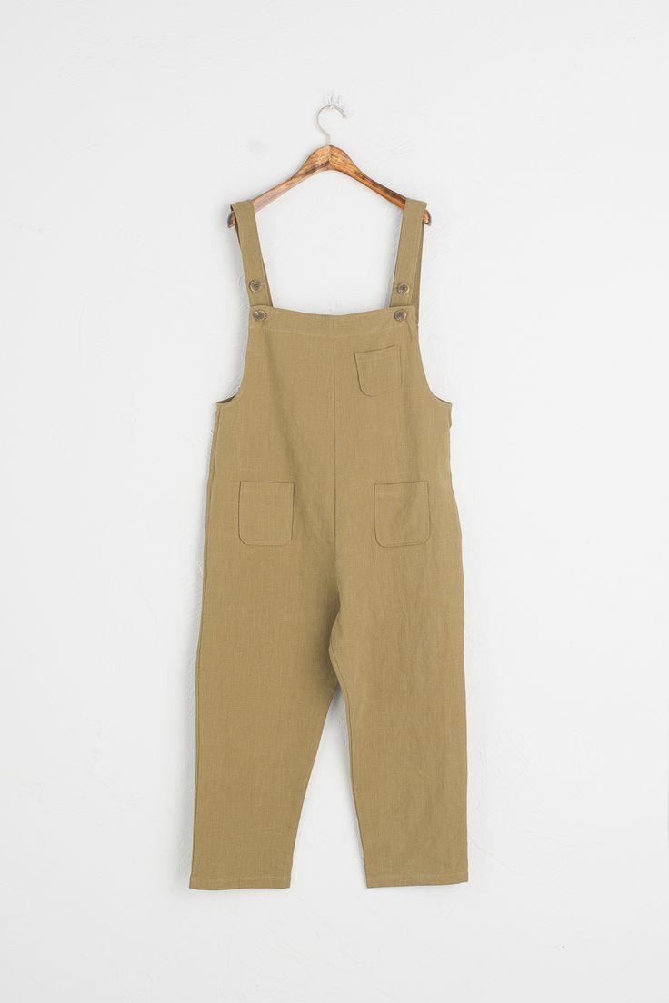 Olive - Pocket Point Dungaree Trousers, Khaki, £59.00 (https://www.oliveclothing.com/p-oliveunique-20170329-026-khaki-pocket-point-dungaree-trousers-khaki)