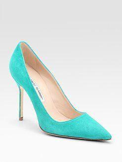 3b9c9250 Manolo Blahnik ~ Love that Tiffany Blue #ManoloblahnikHeels Manolo Blahnik  Heels, Pointed Toe Pumps