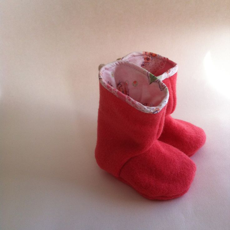 baby pure wool Juniper boots in watermelon pink 12-18 months by smallforestshop on Etsy