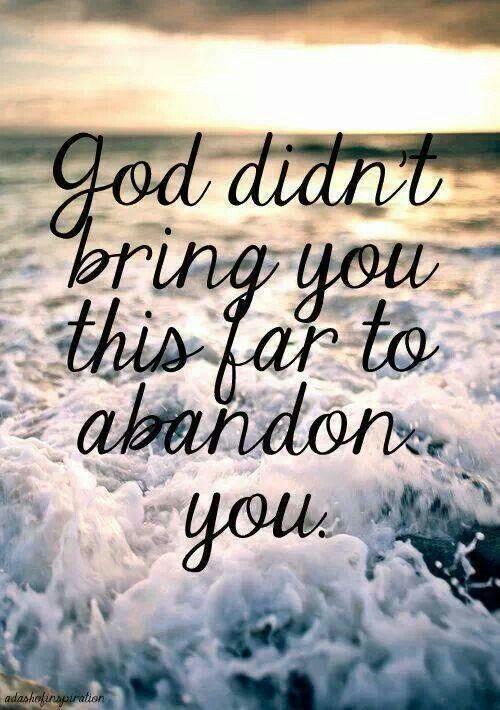 God didn't.....