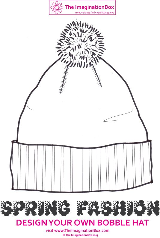 Design your own trendy bobble hat for Spring with this free printable! Stripes, animals, space rockets - let your imagination take over! Schools could make bunting by threading ribbon through the bobbles to decorate a classroom.