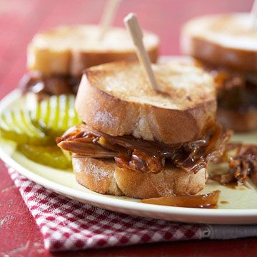 Spicy Pulled Pork sandwiches with Dr. Pepper-flavored barbecue sauce ...