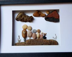 Piedra arte guijarro Art Rock arte irlandés por PirkkosCreations