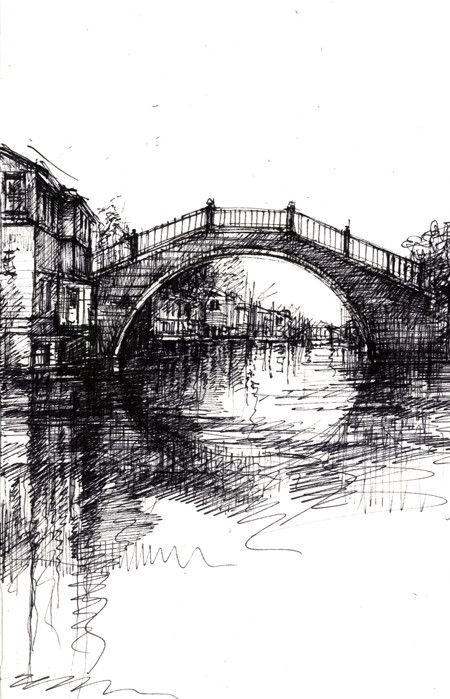 ian murphy. Using biro. Incorporate own images of venice
