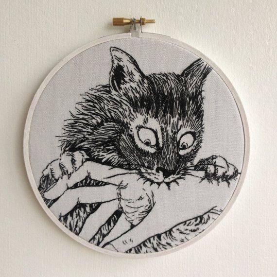 Junji Ito / Hand Embroidery / Cat Diary