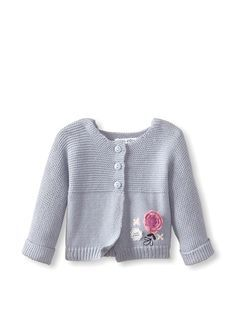 Sucre d\'Orge Baby Sweater Knit Cardigan - garter stitch + jersey