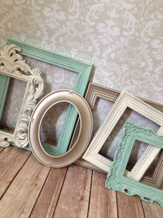 Distressed PICTURE FRAMEs shabby chic wedding by VintageEvents