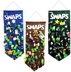 Girl Scout SWAP Banners. Great way to keep your SWAPs nice and tidy. For supplies go to MakingFriends.com