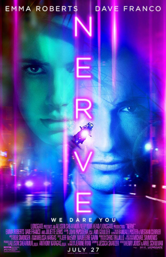 Nerve (2016) ... Industrious high school senior Vee Delmonico (Emma Roberts) is tired of living life on the sidelines. Pressured by her friends, Vee decides to join Nerve, a popular online game that challenges players to accept a series of dares. When Nerve begins to take a sinister turn, Vee finds herself in a high-stakes finale that will ultimately determine her entire future. (21-Jul-2016) with Donald