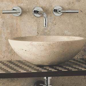 Boxart Travertine Rounded Washbowl   Washbowls   Basins   Bathrooms cphart