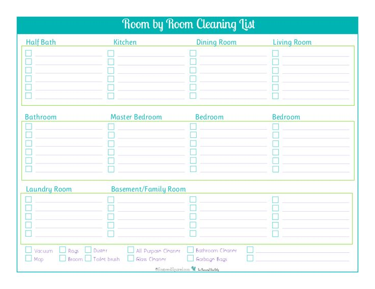 25+ Trending Room Cleaning Checklist Ideas On Pinterest