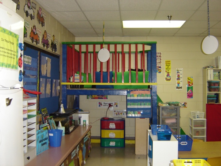Classroom Loft Ideas ~ Classroom reading loft furniture painting