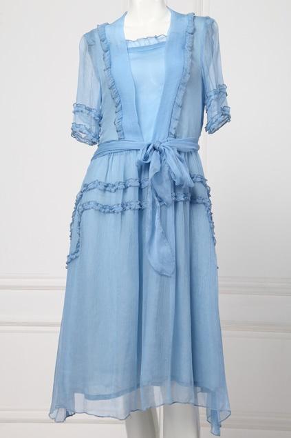$180 Light Blue Lace Dress