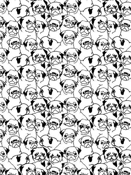 Oh Pugs Art Print
