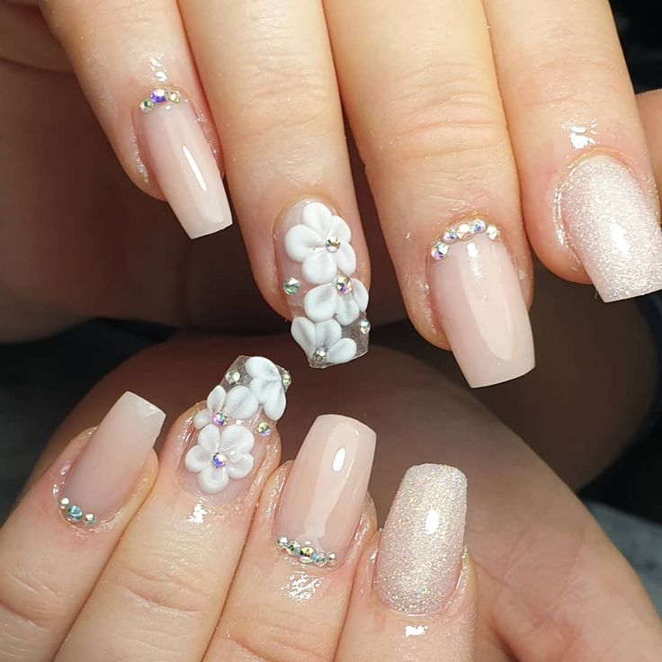 "DenisaNails on Instagram: ""#3dnailart #gloucestershire #nailsingloucester #glo…  – Wedding dreams (mood board)"