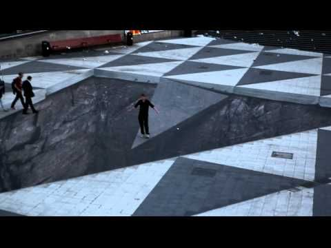 Sidewalk Paintings/Obstacle Illusion