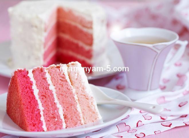 Торт-омбре на День святого Валентина власноруч | Ням-ням за 5 хвилин