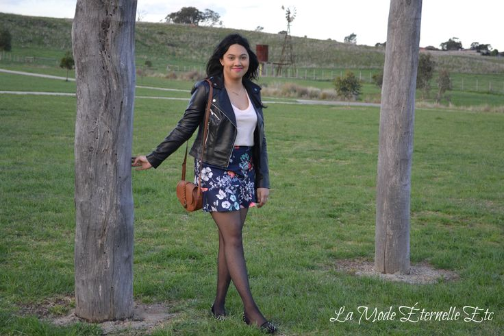 #spring #springstyleinspiration #floral #leatherjacket  http://lamodeeternelleetc.blogspot.com.au/2015/09/spring-has-sprung.html