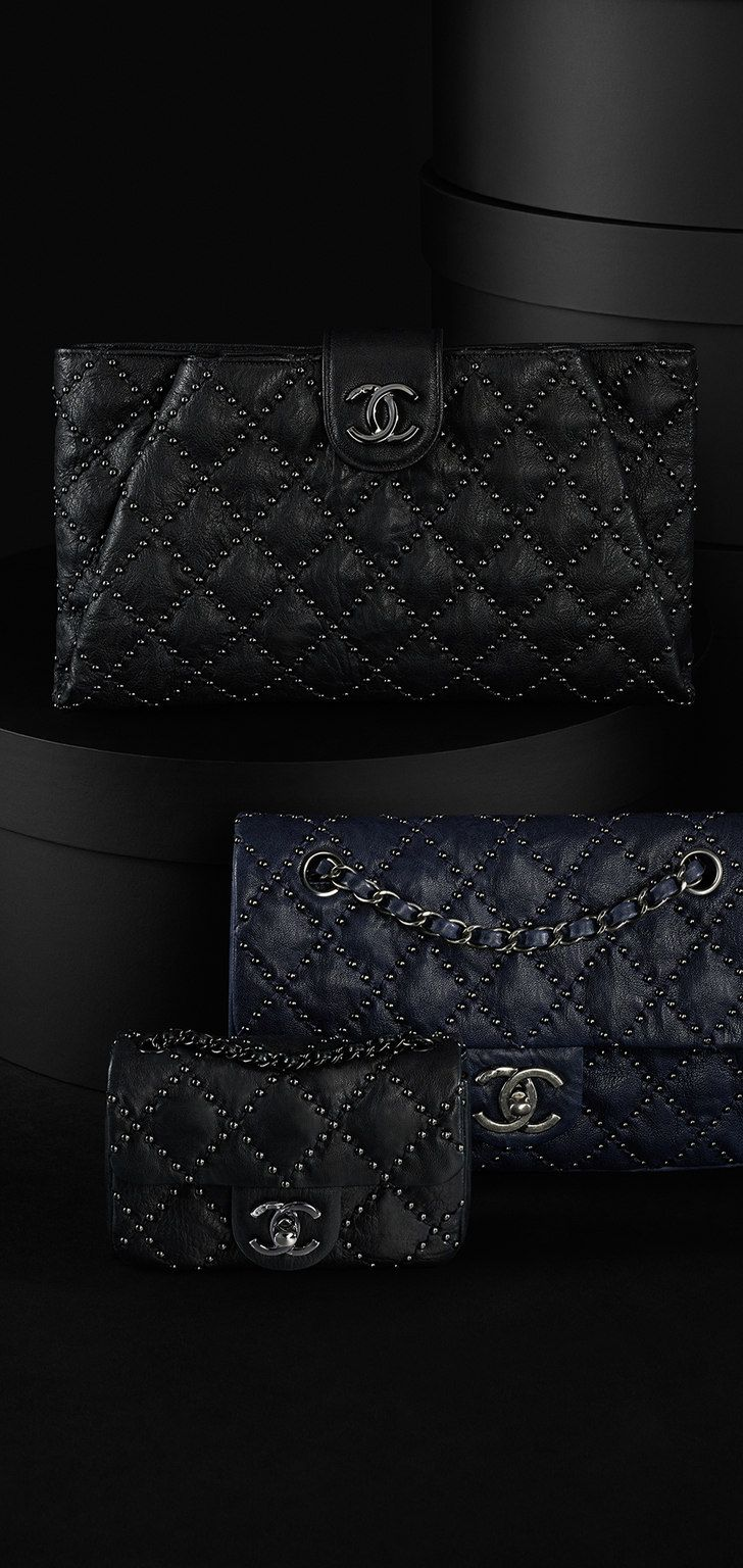 Studded lambskin flap bag - CHANEL