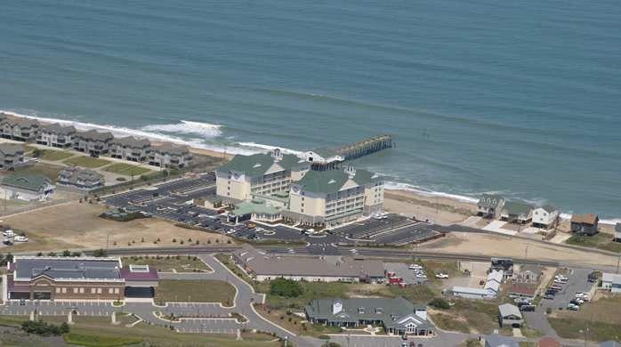 hilton garden inn outer bankskitty hawk hotel nc hotel aerial view - Hilton Garden Inn Outer Banks