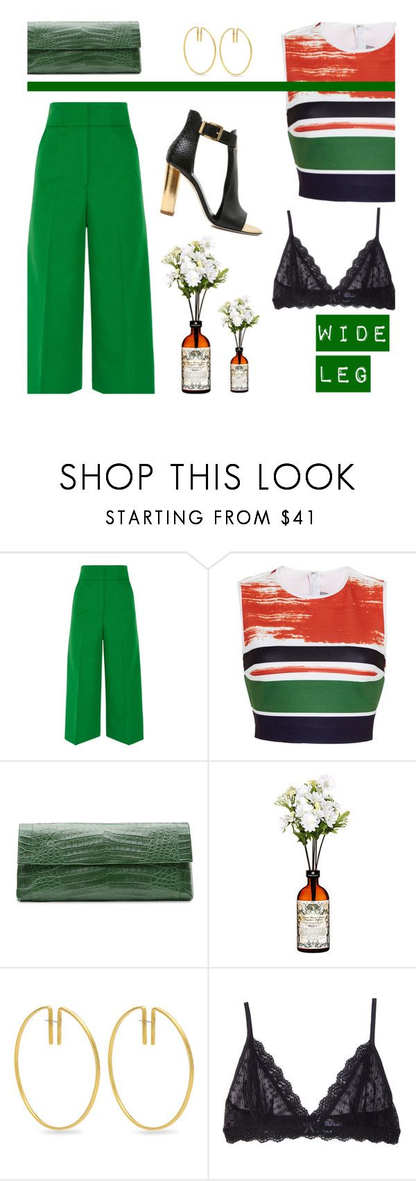 """""""WIDELEG PANTS"""" by alongcametwiggy ❤ liked on Polyvore featuring Marni, Clover Canyon, Nancy Gonzalez, Fay Andrada, Eberjey, denimtrend and widelegjeans"""