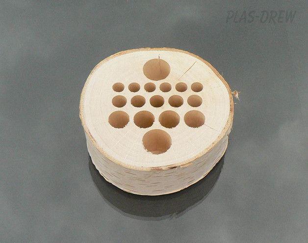 Przybornik, organizer, pojemnik na biurko - Plaster-drewna - Organizery na biurko