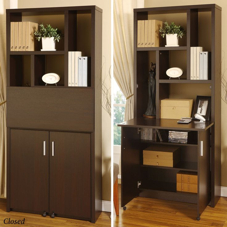 Hidden Fold Down Desk, Office Storage, Small Space In A Tiny House.