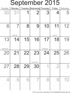 Druckbare Kalendervorlage